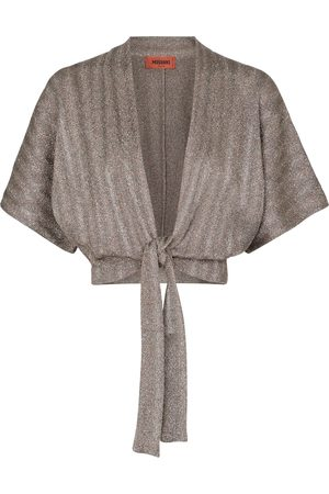 Missoni Women Cardigans - Metallic knit wrap cardigan