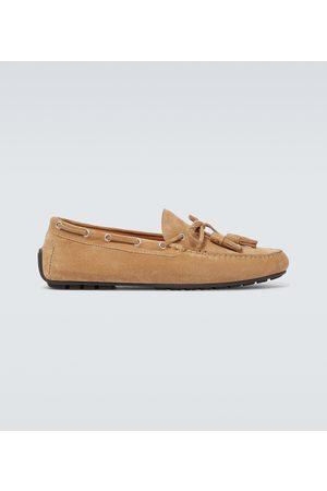 Ralph Lauren Harold suede tasseled loafers
