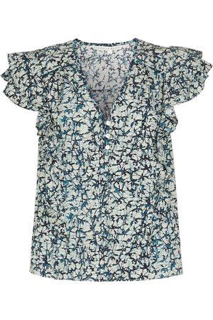 VERONICA BEARD Joi printed cotton top
