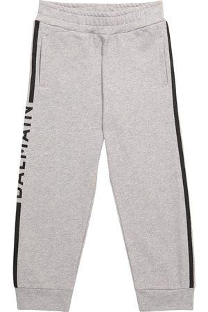 Balmain Boys Sports Pants - Logo cotton sweatpants