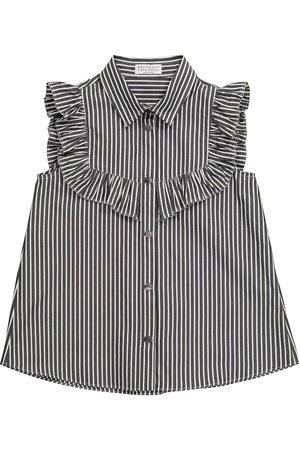 Brunello Cucinelli Girls Blouses - Striped cotton blouse