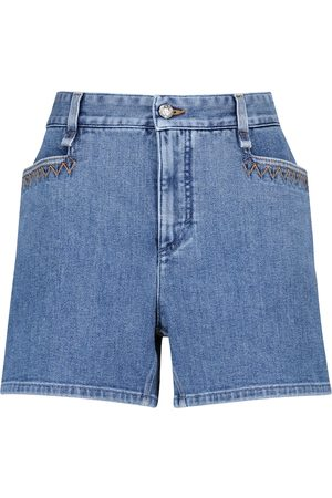 Chloé Women Shorts - High-rise denim shorts