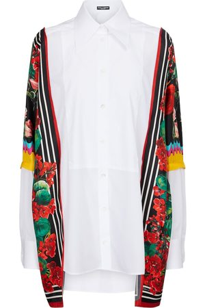 Dolce & Gabbana Women Long sleeves - Cotton and silk shirt