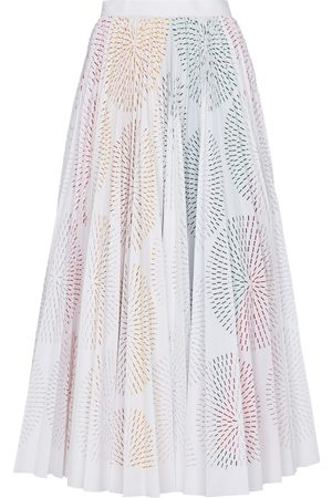 Alaïa Laser-cut cotton-blend midi skirt