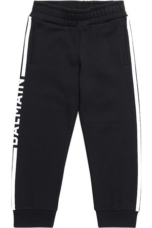 Balmain Boys Sports Pants - Logo cotton jersey sweatpants