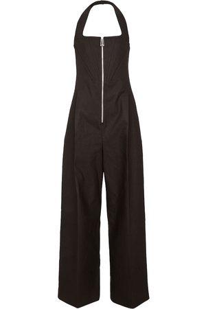Bottega Veneta Linen-blend wide-leg jumpsuit