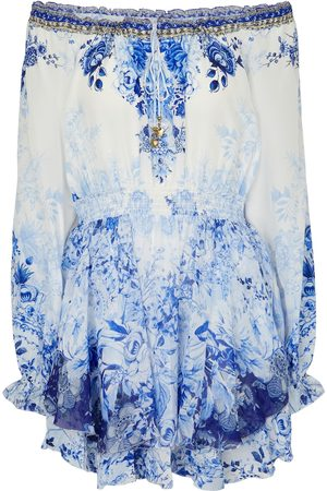 Camilla Women Printed Dresses - Floral silk minidress