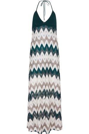 Missoni Women Knitted Dresses - Zigzag knit maxi dress