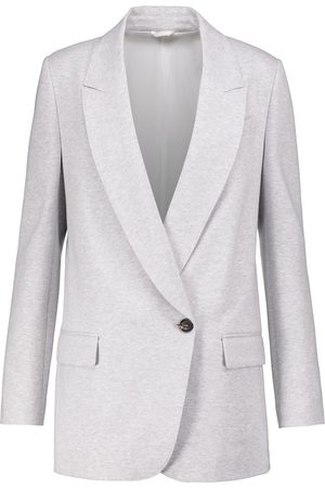 Brunello Cucinelli Single-breasted cotton jersey blazer