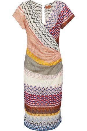 Missoni Women Knitted Dresses - Zig-zag knit midi dress