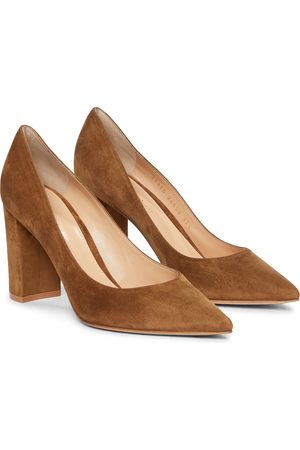 Gianvito Rossi Women Heeled Pumps - Piper 85 suede pumps