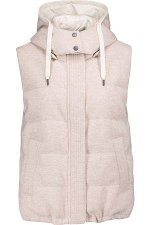 Brunello Cucinelli Women Gilets - Reversible quilted down cashmere vest