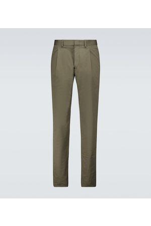 CARUSO Men Stretch Pants - Stretch-cotton pants