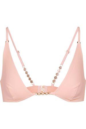 Stella McCartney Women Bikinis - Exclusive to Mytheresa – Embellished triangle bikini top