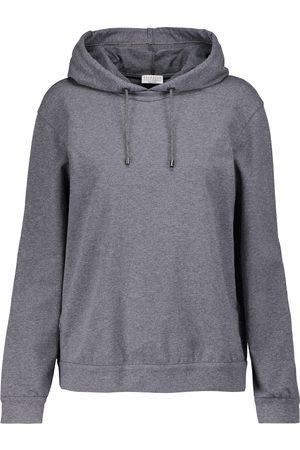 Brunello Cucinelli Women Hoodies - Stretch-cotton jersey hoodie