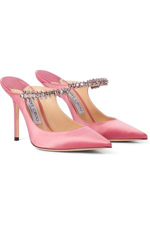 Jimmy Choo Exclusive to Mytheresa – Bing 100 embellished satin mules