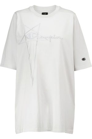 Rick Owens Women Short Sleeve - X Champion® cotton jersey T-shirt
