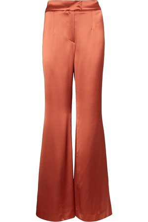 GALVAN Julianne high-rise wide satin pants