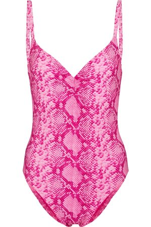 Karla Colletto Exclusive to Mytheresa – Bree snake-effect swimsuit