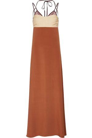 Victoria Beckham Twill maxi dress