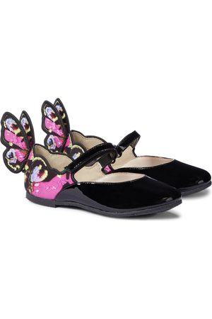 SOPHIA WEBSTER Chiara patent leather ballet flats