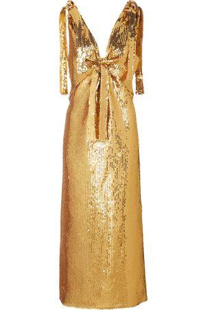 Paco rabanne Women Maxi Dresses - Sequined maxi dress