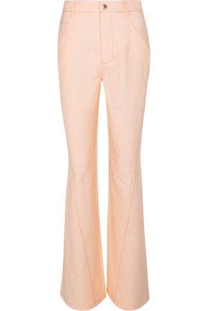 Bottega Veneta High-rise cotton twill pants