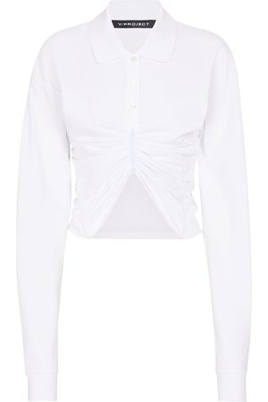 Y / PROJECT Women Long sleeves - Ruched cotton poplin shirt