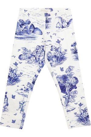 MONNALISA Girls Leggings - X Disney® printed stretch-cotton leggings