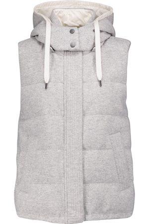 Brunello Cucinelli Women Gilets - Quilted cashmere vest