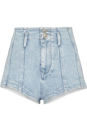 Isabel Marant Women Shorts - Deverson high-rise denim shorts