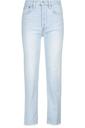 RE/DONE 70s Stove Pipe high-rise straight jeans