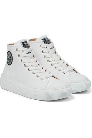 VERSACE Greca cotton canvas sneakers