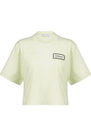 OFF-WHITE Women T-shirts - Logo cropped cotton T-shirt