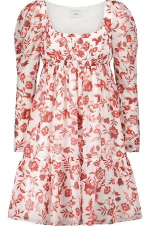 Erdem Women Printed Dresses - Sibyl floral cotton and silk minidress