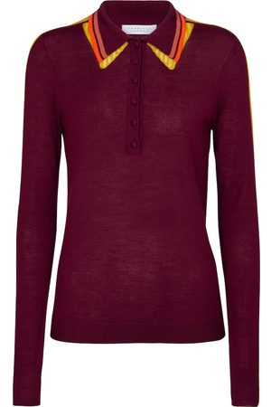 GABRIELA HEARST Women Polo Shirts - Manuel cashmere and silk polo shirt