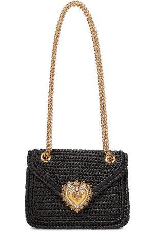 Dolce & Gabbana Women Shoulder Bags - Devotion Medium raffia shoulder bag