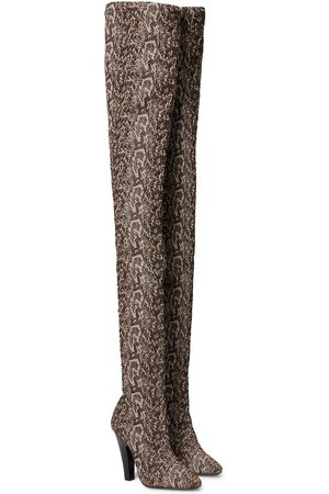 Saint Laurent Women Thigh High Boots - 68 stretch-canvas over-the-knee boots