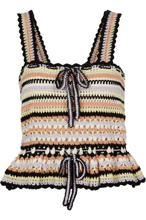 ULLA JOHNSON Women Tank Tops - Zita crochet cotton top