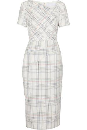 Roland Mouret Women Midi Dresses - Darland checked midi dress