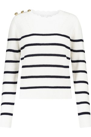 VERONICA BEARD Women Sweaters - Matin striped linen and cotton sweater