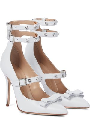 Alessandra Rich Women Heeled Pumps - Embellished leather pumps