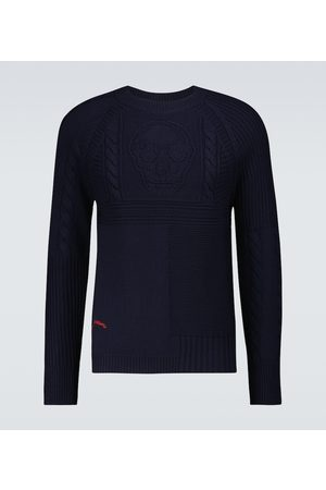 Alexander McQueen Men Sweaters - Skull cable knitted sweater