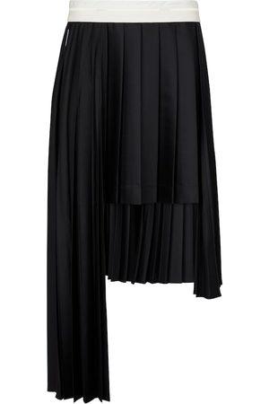 Peter Do Women Midi Skirts - Pleated asymmetric wool midi skirt
