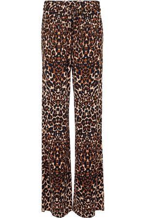 Tom Ford Women Wide Leg Pants - Leopard-print wide-leg pants