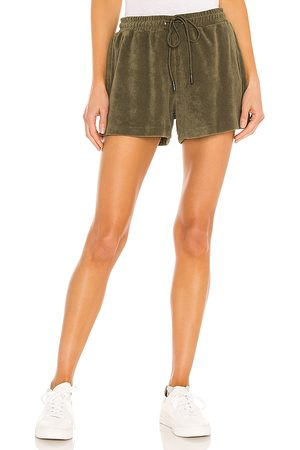 Pam & Gela Terry Gym Shorts in Olive.