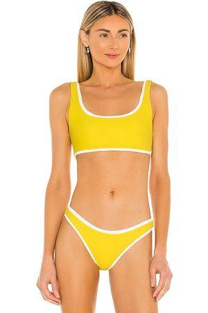 Mikoh Women Bikinis - Marseille Bikini Top in Yellow.