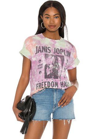 DAYDREAMER Janis Joplin Freedom Hall Weekend Tee in Purple.