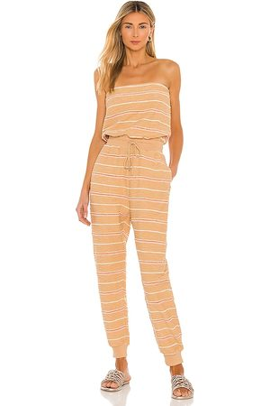 L*Space North Shore Jumpsuit in Beige.