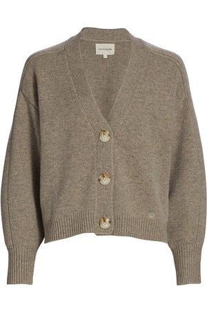Loulou Studio Women Cardigans - Women's V-Neck Wool & Cashmere Knit Cardigan - Melange - Size Large